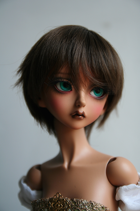 "[VDS] Wigs LUTS,FOR MY DOLL,CROBI de 7"" à 10""/Yeux 8 à 18mm  Wig16"